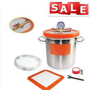 12L Vacuum Degassing Chamber 25CM Stainless Steel- Degassing Silicone Kit UK