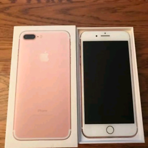 Apple iphone 7 plus 256gb Rose gold unlock 10/10 condition