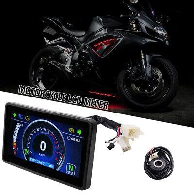 1x 12V Motorcycle Speedometer Odometer Tachometer RPM Speed Meter Fuel LCD Gauge