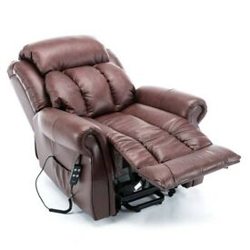 wellington large brown leather recliner riser massager was £838 in sale 1 year old sell for £300