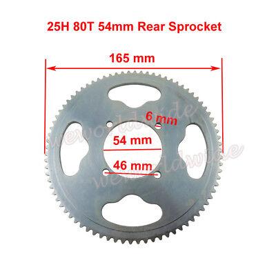 25H 80T 54mm Rear Sprocket For XRF500 Razor MX350 MX400 Mini Moto ATV Dirt Bike