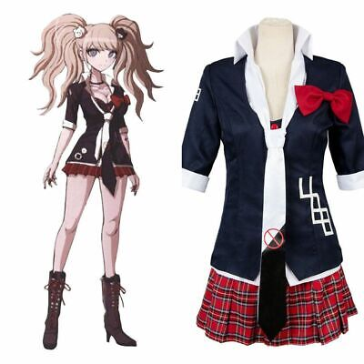 Halloween Costumes Anime Cosplay (Anime Danganronpa Junko Enoshima Cosplay Costume Women Uniform Dress)