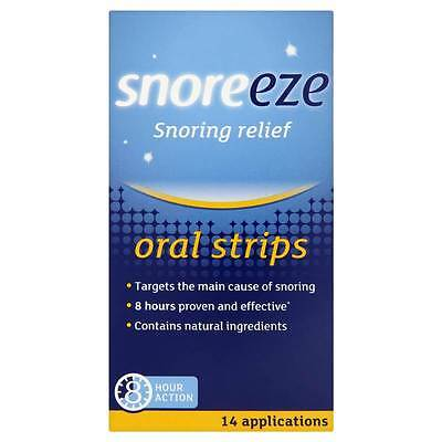 Snoreeze Snoring Relief Oral Strips 14 Applications