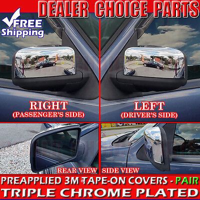 2003 2004 2005 2006 Ford Expedition Chrome Mirror COVERS Half Trim Cap Overlay - Ford Expedition Chrome Mirror