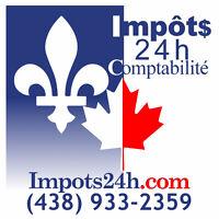 Comptable 7/7 pour impôts rapides & par cher, bureau ou distance