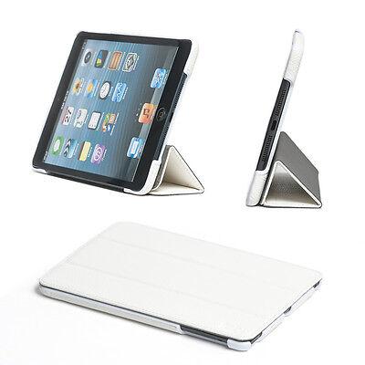 Ultra Slim Leather Magnetic Smart Folio Case Cover For Apple iPad Mini 3/2 White