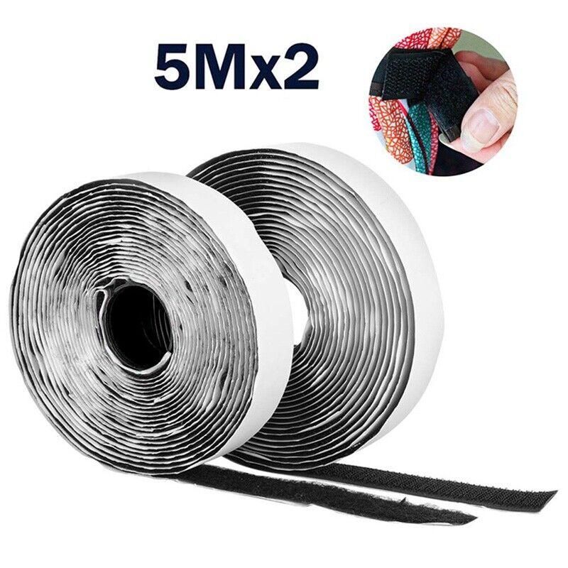 Klettband selbstklebend auf Rolle weiß 25mm breit x 5m Länge 2-teilig
