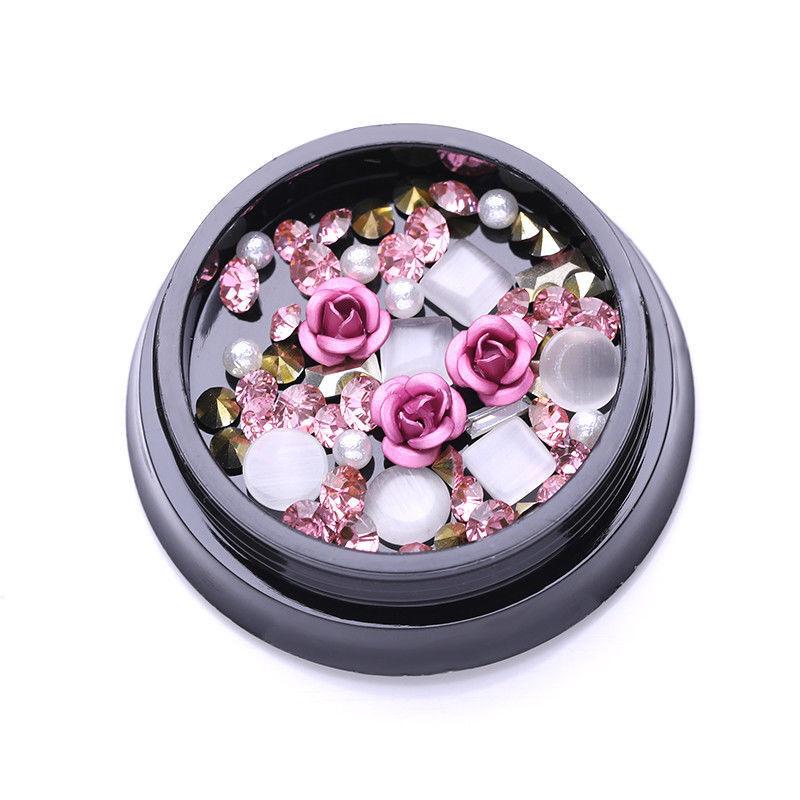 1Box Pink Rose Beads