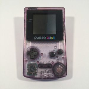 Console portative Gameboy Color (Atomic Purple) transparent