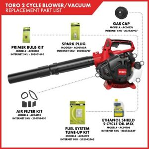 Toro 150 MPH 460 CFM 25.4cc 2-Cycle Handheld Gas Leaf Blower Vac