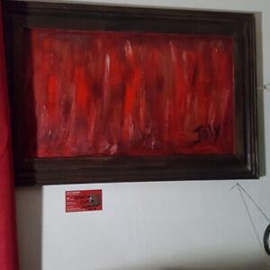 ART TOILE D'ARTISTE TITRE: SABBATIQUE ARTISTE: JOLY PAINTING