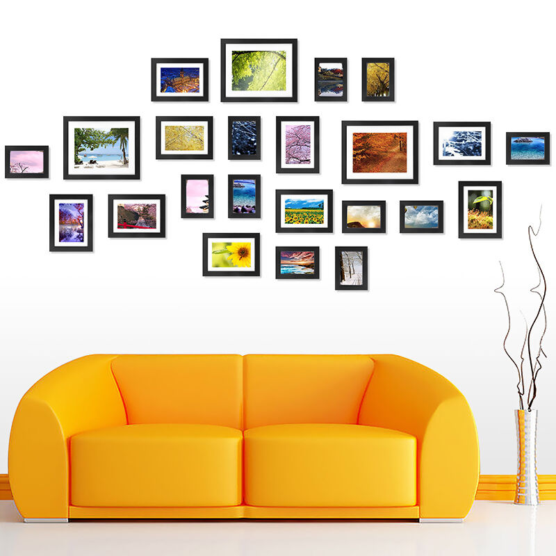 How to Decorate a Wall with Photo Frames