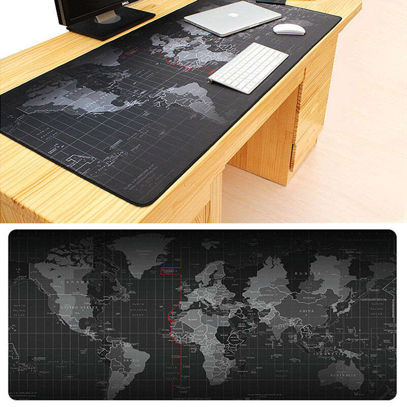 Gaming Mouse Pad Old World Map Large Computer Mat Notebook Desk Laptop Keyboard