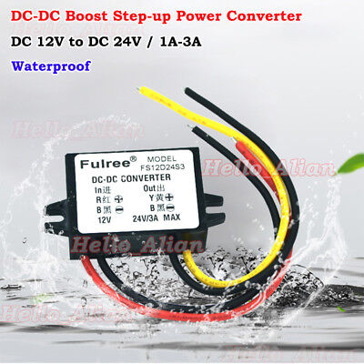 Waterproof Dc-dc Step Up Volt Converter 12v To 24v 3a Mini Boost Regulator Car