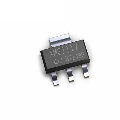 100pcs Ams1117 Ams117-adj Ams1117-adjadj 1a Voltage Regulator Sot-223 New