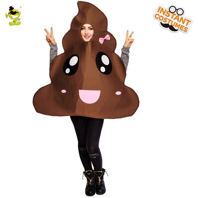 Women's Poop Emoji Costume Adult Cute Poop Emoticon For Carnival Party