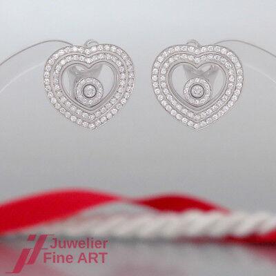 Chopard Ohrringe Herz-HAPPY DIAMONDS-18K/750 Weißgold-162 BRILL=0,86ct FC-NEU !!