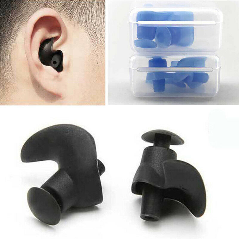 REUSABLE SOFT SILICONE ANTI NOISE FOAM EAR PLUGS FOR SWIM SLEEP WORK WITH BOX