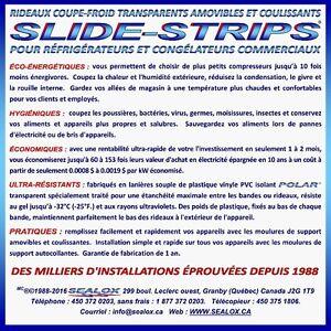RIDEAUX COUPE-FROID TRANSPARENT POUR RÉFRIGÉRATEUR & CONGÉLATEUR Saint-Hyacinthe Québec image 4