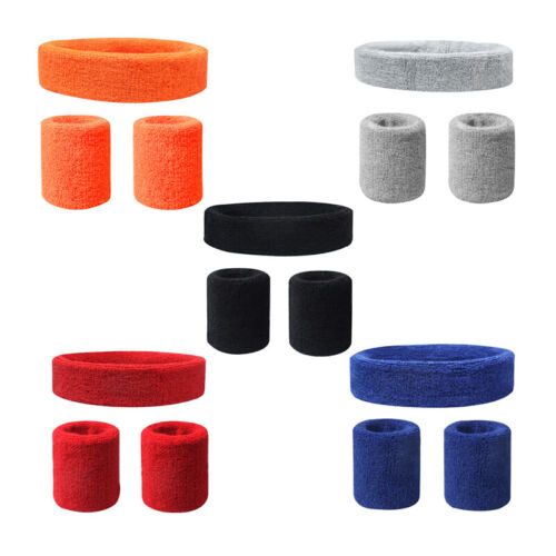 Wristband With Headband Set Elastic Anti-slip Sweatband Wris