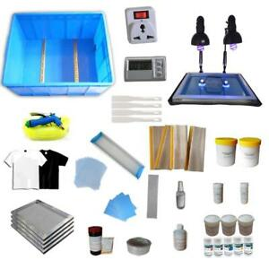 4 Color Screen Printing Kit Include simple Exposure Unit & Ink Squeegee 006802 Item number: 006802