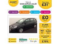 VAUXHALL ZAFIRA 1.8 120 EXCLUSIV 1.7 CDTI DESIGN ECOFLEX 1.6 FROM £31 PER WEEK.