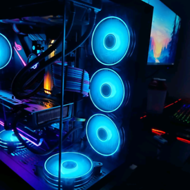 High end strix watercolor gaming PC