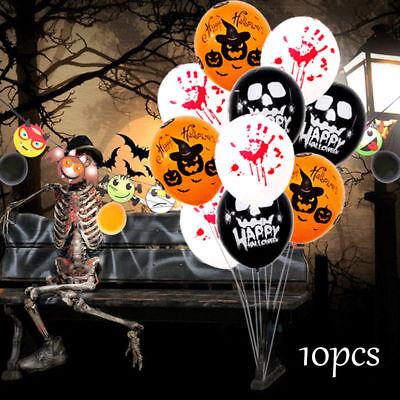 10 x Halloween Kürbis Spider Web Ballons Party Wohnkultur Zubehör DIY 12
