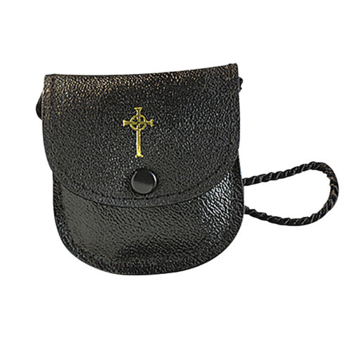Medium Strap Burse Black for Communion Pyx