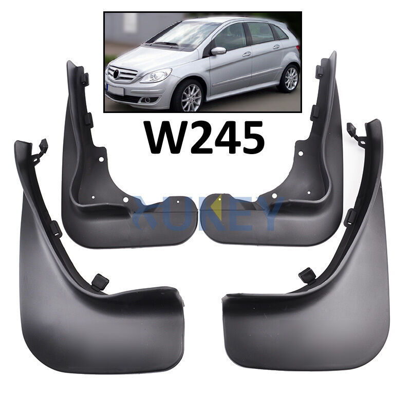 SET FRONT REAR SPLASH GUARDS FIT FOR BENZ B CLASS 06-11 W245 MUD FLAPS MUDFLAPS