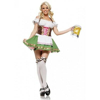 Oktober Fest Dress (Sexy 2 PC. German Gretchen Oktoberfest October Fest Halloween Costume Dress)