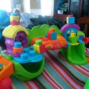 Fisher Price stack and suprise playhouse and pull along croc!! London Ontario image 3