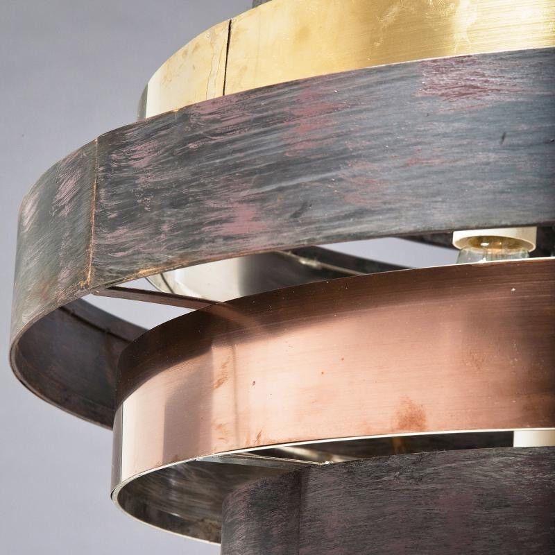Kare Designer Pendant Lamp Round - Coffee