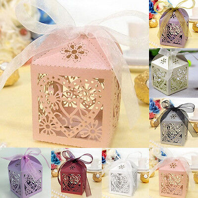 10Pcs/set Wedding Favors and Gifts for guests Party Mariage Candy Boxes Decor - Wedding Boxes For Favors