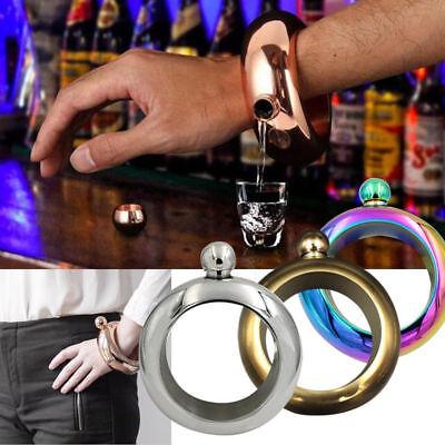 (Booze Smuggle Bracelet Bangle Flask Alcohol Liquor Whisky Hip Festival Jewelry)