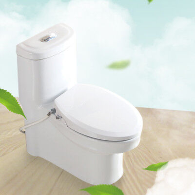 Non-Energized Bidet Toilet Seat for Elongated Toilet, Easy Installation, White