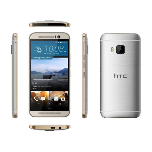 NEW T-MOBILE HTC ONE M9 0PJA120 32GB GOLD ON SILVER ANDROID