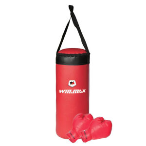 Win Max Junior Boxing Set with Bag & Gloves RED