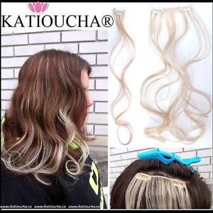 Mèche de Cheveux à Clip Synthétique de Haute Qualité. GRAND CHOIX de couleurs naturelles & très colorées