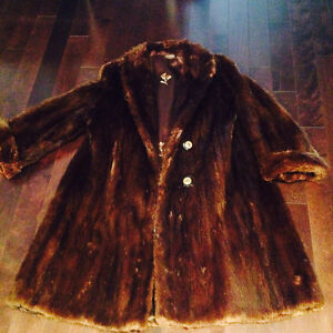 Real Fur coat retro style
