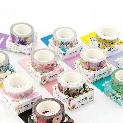 Decorative Tape (Washi Tape Flower Leaves Fresh Scrapbook Paper Adhesive Sticker)