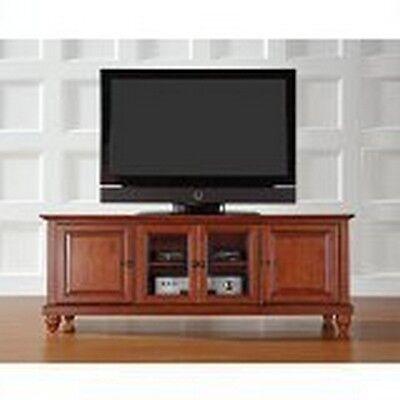 Crosley Furniture Cambridge 60-Inch Low ProfileTV Stand, Classic Cherry