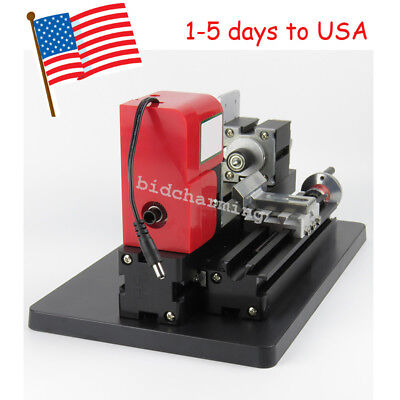 Usa Model Making Mini Metal Motor Lathe Machine Wood Working Power Tool Diy Saw