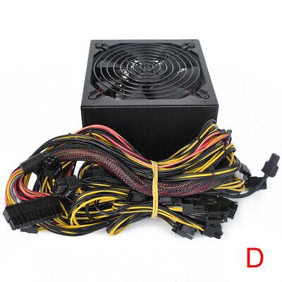 1800W 110-240V Modular Mining Power Supply PSU for 8 GPU ETH Rig Ethereum Miner