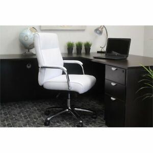 Awesome Conference Chair White Modern Executive From Boss Andrewgaddart Wooden Chair Designs For Living Room Andrewgaddartcom