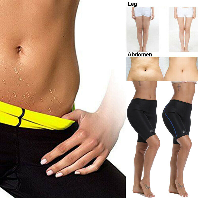 Women Hot Thermo Neoprene Sweat Sauna Body Shaper Pants Weig
