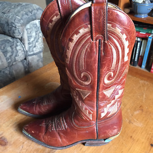 Boulet Brown leather western boots size 5.5 women