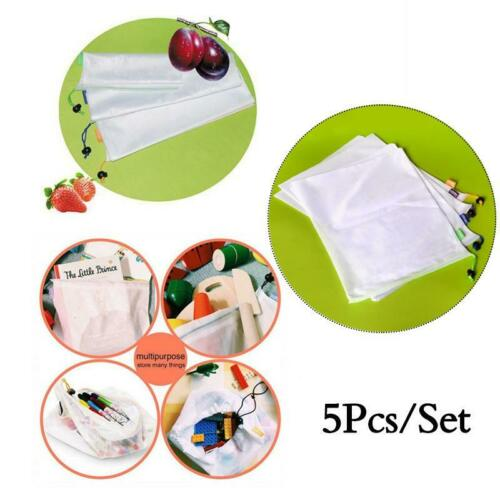 5pcs Reusable Grocery Bags Produce Bag Eco Friendly Shopping