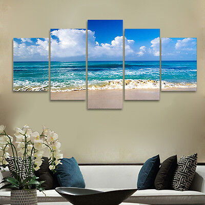 Canvas Print Pic Painting Photo Seascape Blue Home Decor Wall Art Large Framed