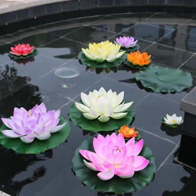Large Lotus Water Lily Floating Flower Pond Fish Tank Plant Yard Decor Cheap!